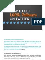 Cara Menambah +1000 Follower Twitter