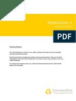 CT1 Deductions Questions