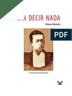 Ishikawa Takuboku - Sin Decir Nada