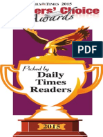 The Daily Times Readers' Choice 2015
