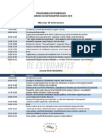 PROGRAMACIÓN PONENCIAS CONGRESO DE ESTUDIANTES USACH 2015