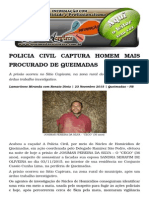 Policia Civil Captura Homem Mais Procurado de Queimadas