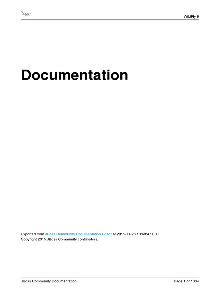 JBoss WildFly 9 Documentation