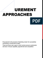Procurement Approaches
