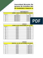 RolExamenesfinales 2015 2 PEB