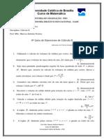 C Lculo II 9 Lista de Exerc Cios