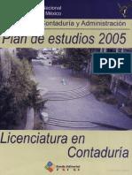 Unam 2005 Plan de Estudios