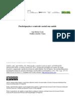 COSTA & VIEIRA. Participação e Controle Social Em Saúde
