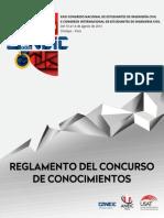 Reglamento Del Concurso de Conocimientos Del XXIII CONEIC Chiclayo 2015