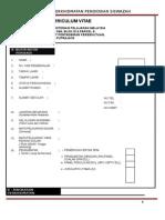 Curriculum Vitae Ppps -Borang Kosong