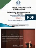 Fallas de Recubrimientos - Octubre 2015