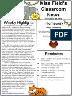 nov 20 jungle newsletter
