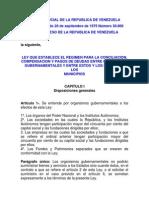 Ley Del Regimen Para Conciliacion, Compensación y Pagos de Deudas...