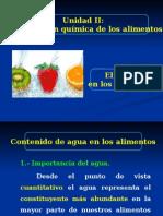 4.- El Agua en Los Alimentos