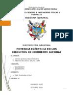 Potencia Electrica en Circuitos de Corriente Alterna