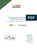 community give back - 2
