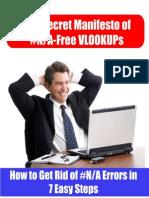 Secret Manifesto of #N/A-Free Vlookups