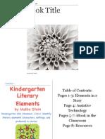 kindergarten literary elements 5