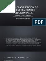 Nueva Clasificación de Las Enfermedades Periodontales Dr Jorge Lopez