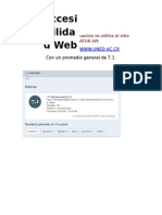 evaluacion sitiso web