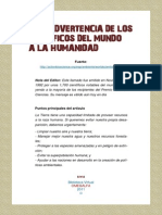 una advertencia de los cientificos del mundo a la humanidad.pdf