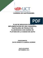 1. Plan de Negocios Para La Implementacion de Una Panaderia Pasteleria de Productos Elaborados Con Harina de Platano en La Ciudad de Quito