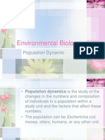 ENVIRONMENTAL BIOLOGY (TKA3104)  LECTURE NOTES -3 Population Dynamic
