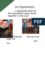 foam experiment