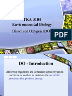 ENVIRONMENTAL BIOLOGY (TKA3104)  LECTURE NOTES -6 Dissovle Oxygen