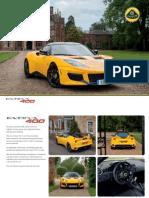 Lotus Evora 400 Official Brochure