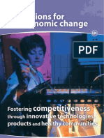 Regions for economic change - Fostering competitiveness through innovative technologies, products and healthy communities