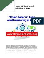 Como Hacer Un Buen Email Marketing El 2016
