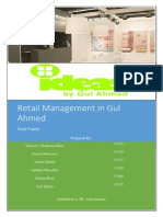 Retail management in gul ahmed ideas