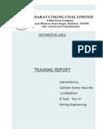 Training Report of Bccl Govindpur Area