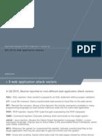 Slideshow Q2 2015 Web Application Attacks and WordPress Vulnerabilities From StateoftheInternet