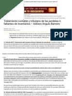 Tratamiento Contable y Tributario de Las Perdidas ó Faltantes de Inventarios – Adilson Angulo Barreiro _ Opinión - Actualicese