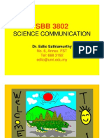 COMMUNICATION SCIENCE (SBB3802) LECTURE NOTES - Week 1