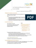Fichecontrat Contrat Acces Emploi DOM
