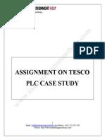 Tesco plc case study -Instant Assignment Help
