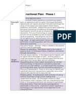 instructional plan phase i