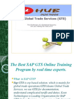 The Best SAP GTS online training by Real Time Experts