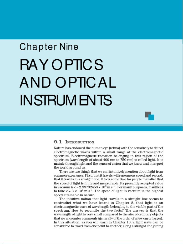 Chapter 9   Lens (Optics)   Refraction