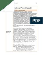 instructional plan phase iii