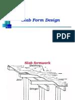 Design of Slab Forms