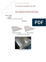 Roofing With Corrugated Galvanized Steel Sheet