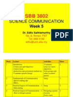 COMMUNICATION SCIENCE (SBB3802) LECTURE NOTES - Week 5