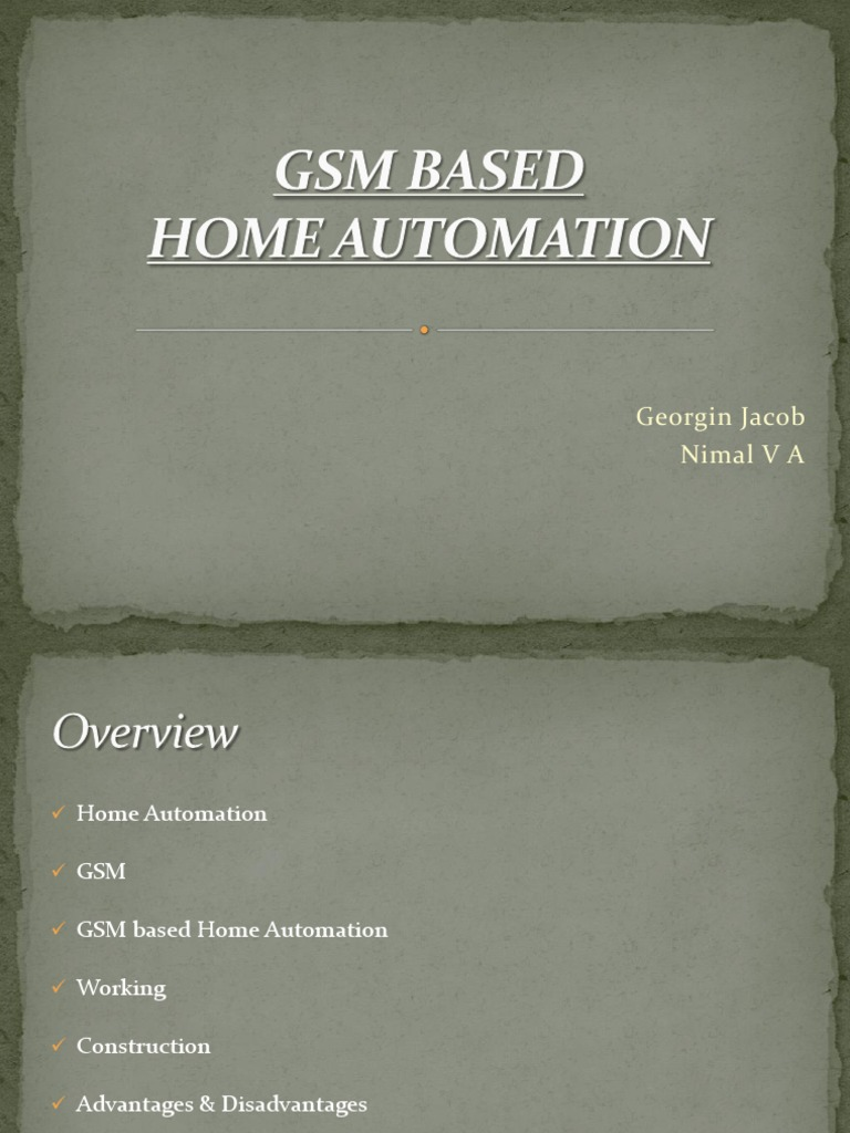 Advantages Of Home Automation gsm based home automation