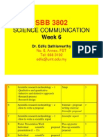 COMMUNICATION SCIENCE (SBB3802) LECTURE NOTES - Week 6