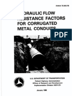 Hydraulic Flow Resistance Factors for Corrugated Metal Conduits