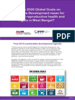 What do 2030 Global Goals on Sustainable Development mean for sexual and reproductive health and rights in West Bengal?